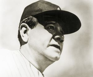 GEORGE H. RUTH (1895-1948). Known as Babe Ruth, American professional baseball player.