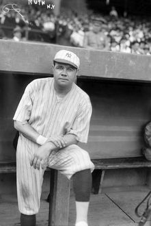 GEORGE H. RUTH (1895-1948). Known as Babe Ruth. American professional baseball player