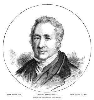GEORGE STEPHENSON (1781-1848). English inventor and founder of railways