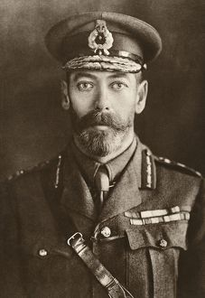 GEORGE V (1865-1936). King of Great Britain 1910-1936. Photograph, c1915