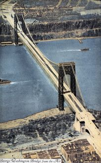 GEORGE WASHINGTON BRIDGE. The bridge across the Hudson River, opened for traffic in 1931