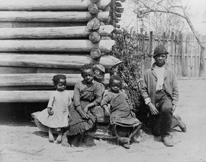 african american history/georgia children c1886 group african american