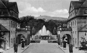 GERMANY: BAD NAUHEIM. Sprudelhof health resort in the town of Bad Nauheim, Germany