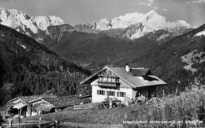 GERMANY: BAVARIA, c1920. The hotel Hintergraseck in Garmisch-Partenkirchen, Bavaria