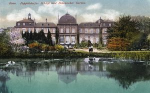 GERMANY: BONN, c1920. Poppelsdorf Palace and Botanical Garden in the Poppelsdorf
