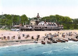 GERMANY: CASINO, c1895. Casino along the Baltic Sea in the resort town of Heringsdorf