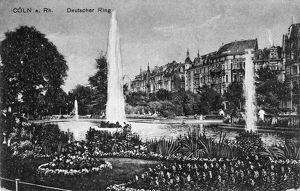 GERMANY: COLOGNE, c1915. The Deutscher Ring in Cologne, Germany. Illustration, c1915