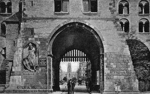 GERMANY: COLOGNE, c1920. Gate in Cologne, Germany. Photograph, c1920