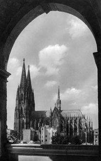 GERMANY: COLOGNE, c1920. View of the Cologne Cathedral in Cologne, Germany. Photograph