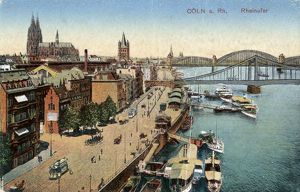 GERMANY: DUSSELDORF, c1920. The Rhine Promenade in Dusseldorf, Germany. Photograph