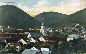 GERMANY: FRIEDRICHRODA. View of Friedrichroda, Germany. Illustration, c1920