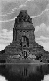 GERMANY: LEIPZIG, c1920. The Monument to the Battle of the Nations (Volkerschlachtdenkmal)