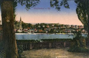 GERMANY: PFAFFENDORF. The Rhine river running through the town of Pfaffendorf, Germany