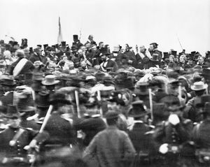 GETTYSBURG ADDRESS, 1863. The crowd gathered at Abraham Lincoln's Gettysburg Address
