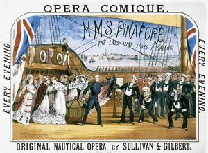 GILBERT & SULLIVAN, 1878. Poster for the first production, 1878, of 'H