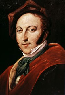 GIOACCHINO ROSSINI (1792-1868). Italian composer. Oil on canvas.