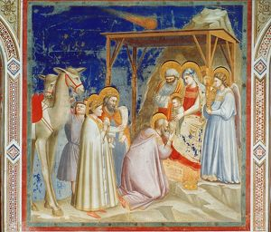 GIOTTO: ADORATION. Adoration of the Magi. Fresco, c1305, from the Scrovegni Chapel