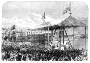 GLASGOW UNIVERSITY, 1868. The Prince of Wales (later King Edward VII), laying the