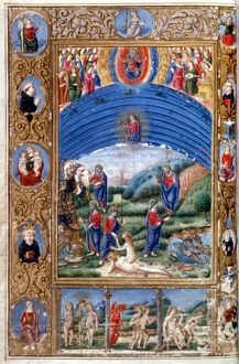 GOD AND CREATION, c1475. God enthroned and the Creation: illumination from an Italian