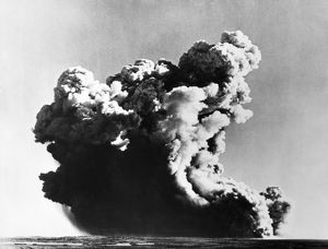 Great Britain tests its first atomic weapon at the Montebello Islands off the coast