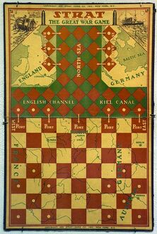 'The Great War Game.' American board game by Strat, 1915.
