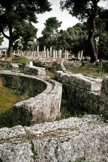 GREECE: OLYMPIA. The Palaestra at Olympia, site of the Olympic Games of antiquity.