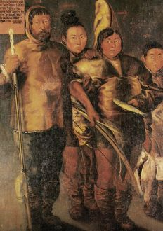 anthropology/greenlanders 1654 inuit greenland painting