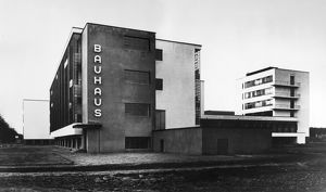 GROPIUS: BAUHAUS, c1926. The Bauhaus school at Dessau, Germany, with the workshop wing at left
