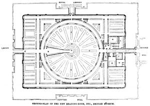 The ground-plan of the Reading Room at the British Museum (now the British Library)