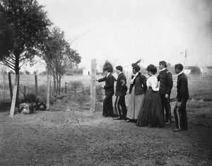 HAMPTON INSTITUTE, c1900. Agriculture class judging swine at Hampton Institute, Virginia