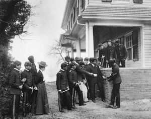 HAMPTON INSTITUTE, c1900. Arithmetic lesson led by a student mason at Hampton Institute