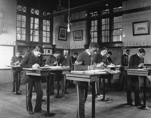 HAMPTON INSTITUTE, c1900. Mechanical drawing class at Hampton Institute, Virginia