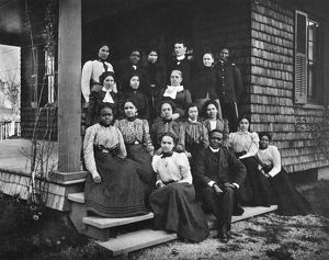 HAMPTON INSTITUTE, c1900. The post-graduate class of 1900 at Hampton Institute, Virginia