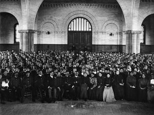 HAMPTON INSTITUTE, c1900. Students in the Memorial Chapel at Hampton Institute, Virginia