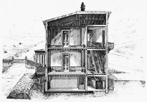 HEATING SYSTEM, 1870. American patent hot air system, 1870