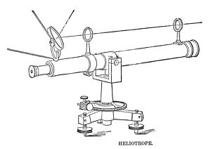 HELIOTROPE, 1888. Surveying tool using a mirror to reflect sunlight over a distance