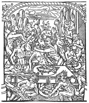 HELL: SEVEN DEADLY SINS. The Gluttonous are forcefed on toads, rats, and snakes