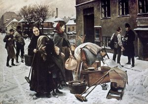 HENNINGSEN: EVICTED, 1890. Oil on canvas by Erik Henningsen, 1890.