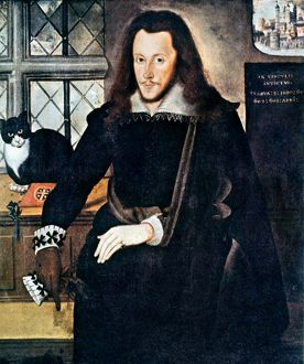 HENRY WRIOTHESLEY (1573-1624). 3rd Earl of Southampton in the Tower of London. Oil painting by John de Critz, 1603.