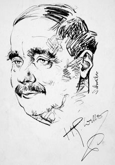 HERBERT GEORGE WELLS (1866-1946). English writer. Drawing by Georges Schreiber.