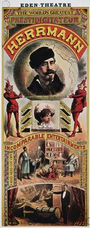 HERRMANN: POSTER c1880. American or English poster of magician Alexander Herrmann (1844-1896)