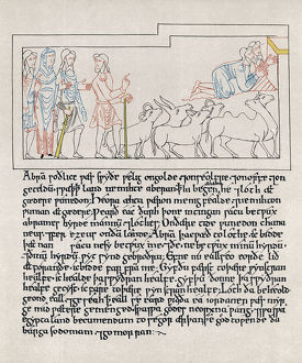 HEXATEUCH, 11th CENTURY. Page from the Old English translation of the Hexateuch