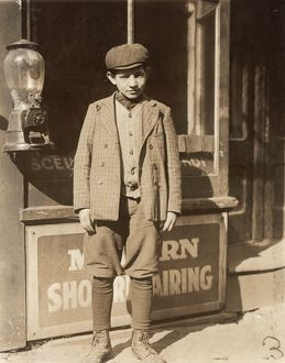 HINE: CHILD LABORER, 1910. Jacob Futterman, a 16-year-old coconut shaver at Kibbe's