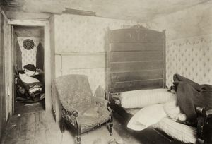 HINE: MILL HOUSING, 1912. Interior of a textile mill worker's home in Pawtucket