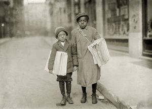 HINE: NEWSBOYS, 1912. 11-year-old Eldridge Bernard and 6-year-old Buster Smith