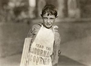 miscellaneous/hine newsboys 1924 young newsboy selling newspapers