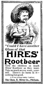 HIRES' ROOT BEER AD, 1895. American magazine advertisement for Hires' Root Beer