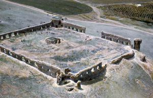 HOLY LAND: CARAVANSARY. Ruins of a 1st century A