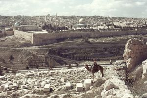 HOLY LAND: JERUSALEM. The Old City from Mount of Olives.