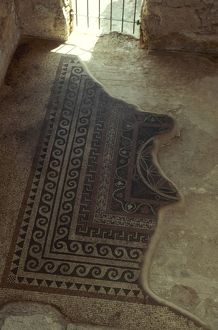 HOLY LAND: MASADA. Mosaic floor in King Herod the Great's Western Palace.